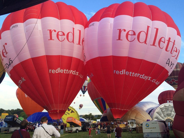 The new Red Letter Days Balloon is the latest addition to the Aerosaurus fleet