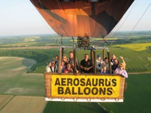balloon flight over the south west of england